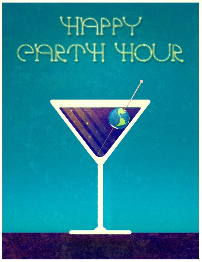 Happy Earth Hour Cocktail Martini