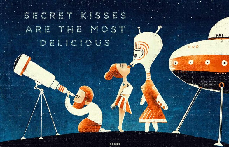 secret kisses are the most delicious