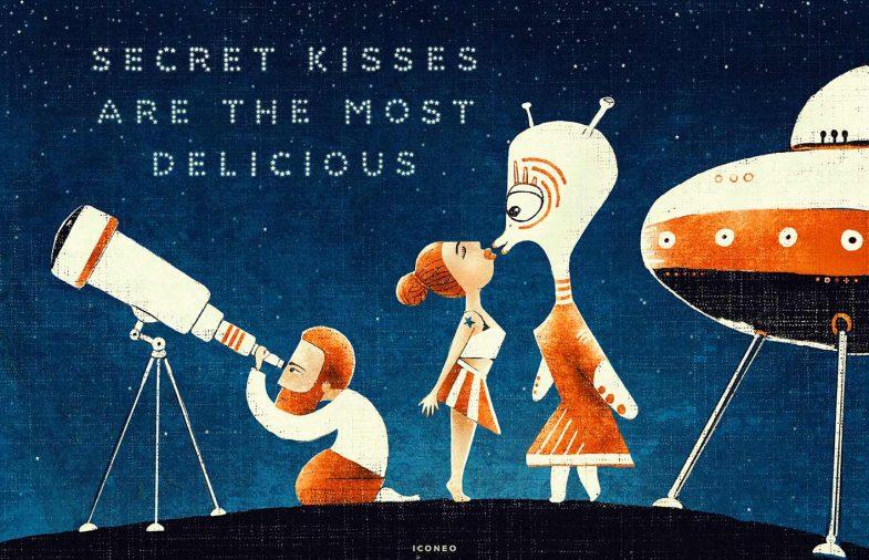 secret kisses are the most delicious